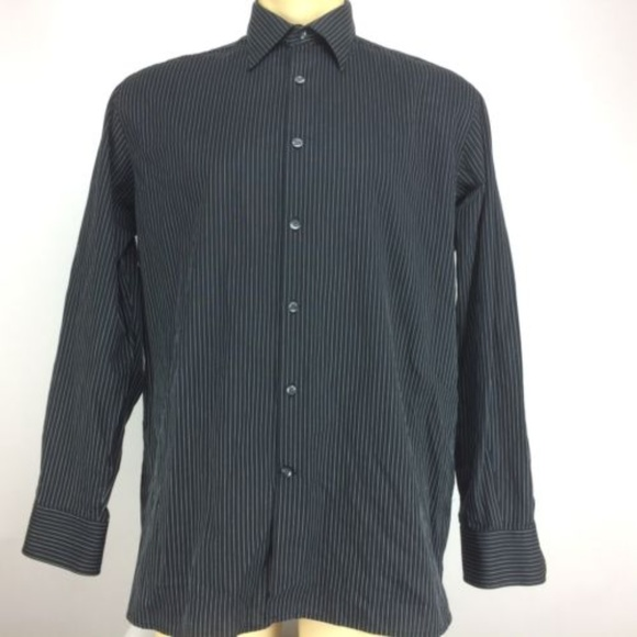 a820ead78a Perry Ellis Shirts | Long Sleeve Black Dress Shirt | Poshmark